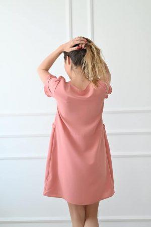 Robe courte rose Maelle fluide