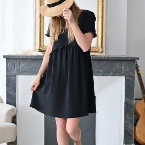 Robe noire courte Maelle