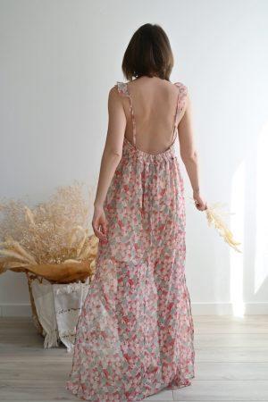 Robe longue dos nu Olivia
