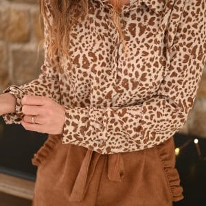 Chemise Albertine léopard