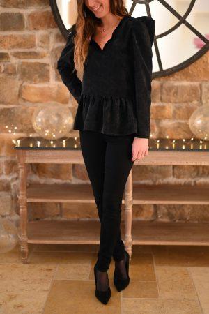 Blouse velours noir Annette