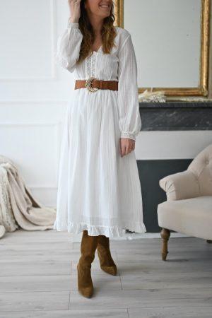 Robe blanche bohème Aline