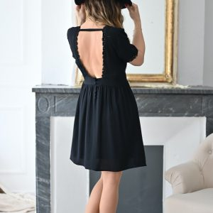 Robe courte noire Tara