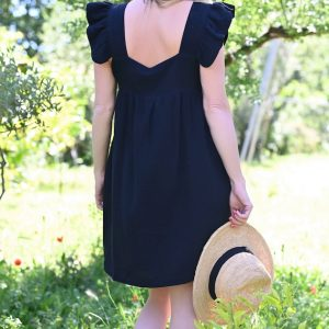 Robe courte noire Zoé