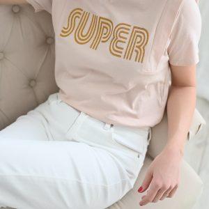 Tee shirt rose Super
