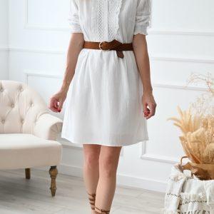 Robe courte blanche Lovely