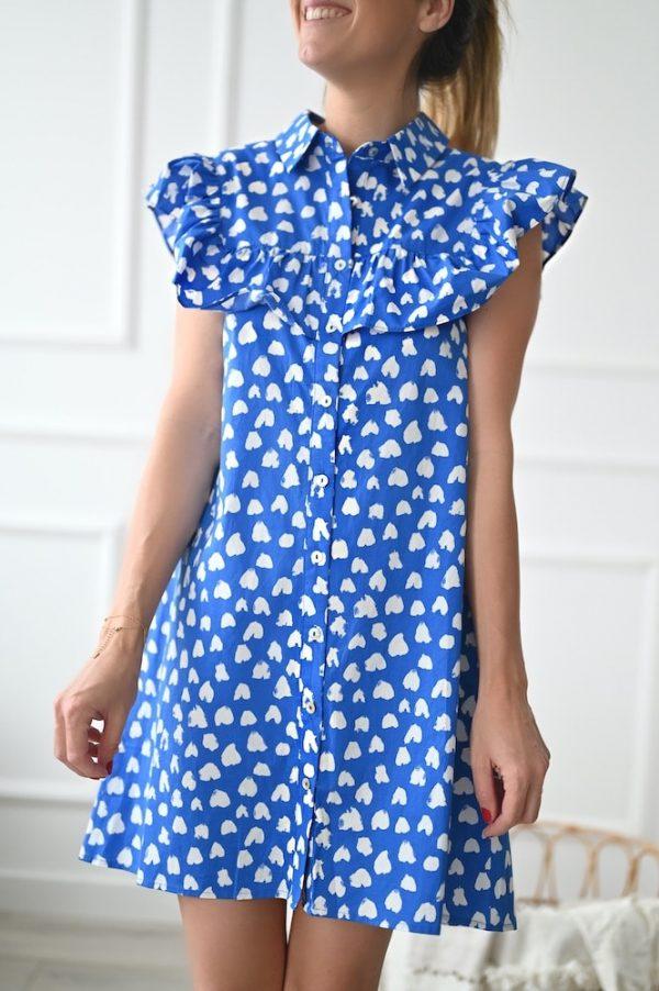 Robe courte bleu azur Séraphine
