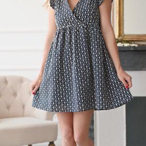 Robe courte Solène bleu marine