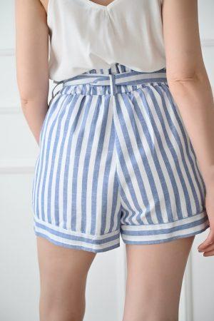 Short rayé bleu Lucca