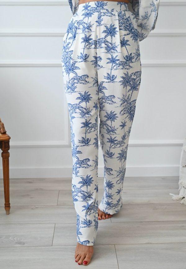 Pantalon Everett toile de jouy