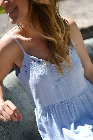 Robe bleu ciel Lison