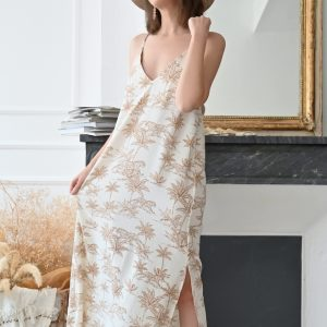 Robe longue toile de jouy Rylee