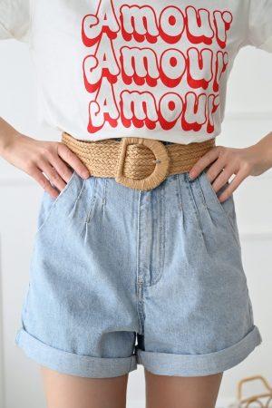 Short en jean taille haute Weston
