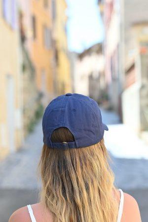 casquette amour bleu marine