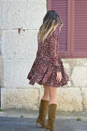 Robe courte multicolore Esmée