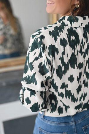 Chemise écru léopard Camélia