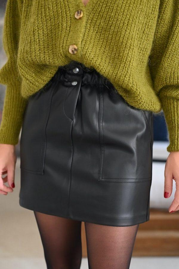 Jupe courte cuir Daria