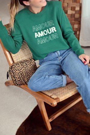 Pull à épaulettes vert sapin Pharell