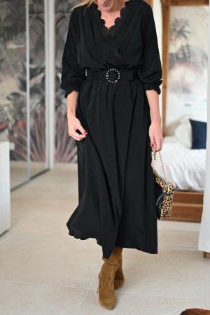 Robe longue noire Janyce